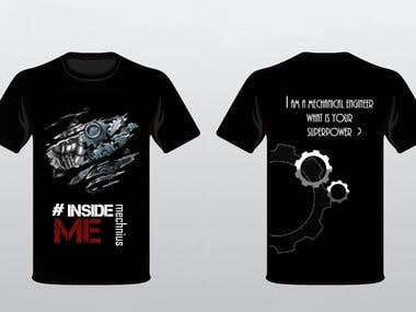 t.shirts designed for department festival.