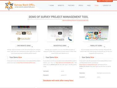Demo of Survey Project Management Tool