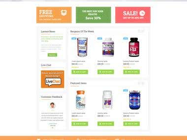 Vitamin Cafe website design and deveopment in Magento