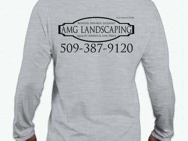 Logo & T-Shirt Design - AMG Landscaping