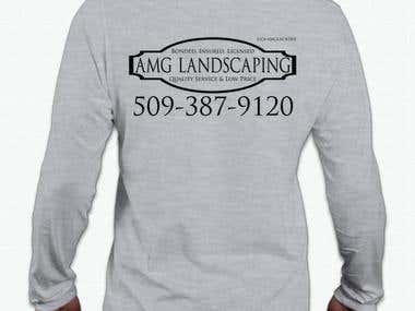 Logo & T-Shirt Design - AMG Landscaping