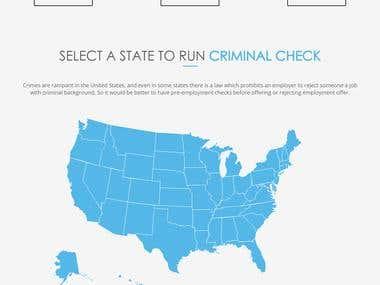 Backcheck USA web page