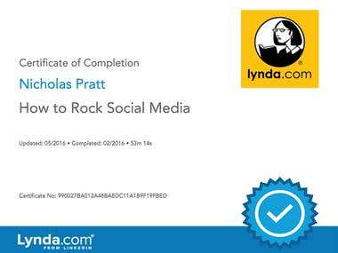 Lynda.com Certificate: How to Rock Social Media