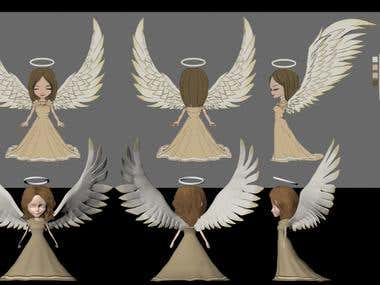 Angel Character Designed for Mobile Game