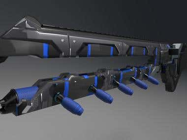 Concept Weapon for FPS game