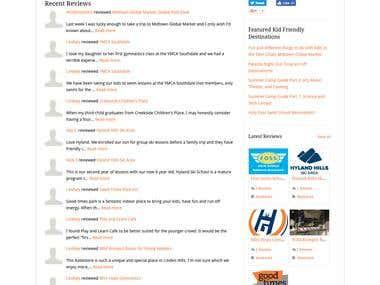 Review Rating Based Online event listing website