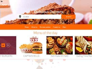 online food ordering and delivery system