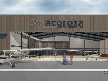Hangar - Escuela de Pilotos (Anteproyecto)
