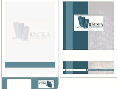Brochure Cover Design for Real Estate Firm in UK