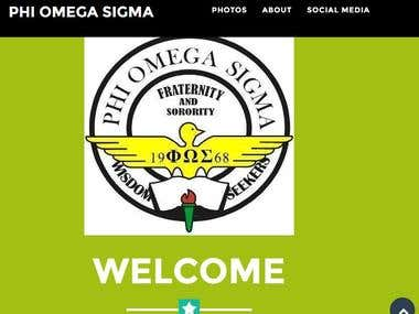Phi Omega Sigma sample webpage