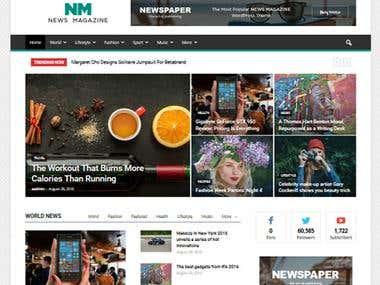 News/Blog Website