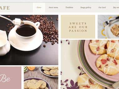 Cafe website by wordpress theme