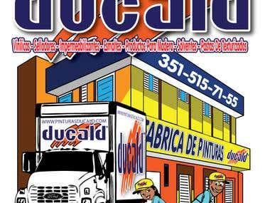 T-Shirt Design for Ducald Pinturas in Zamora Mexico