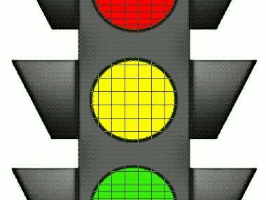 Designed a traffic control system using Labview