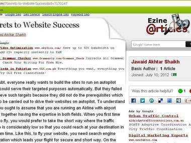 EzineArticles.com Exper Author