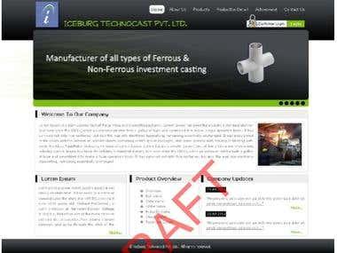 Website layout 4