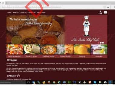 Website layout 5