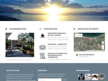 Hotel Website for Apartments Rental