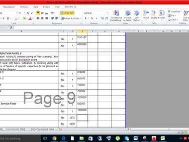 project with excel document making