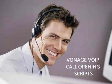 My Sample Audio: Vonage Opening Script