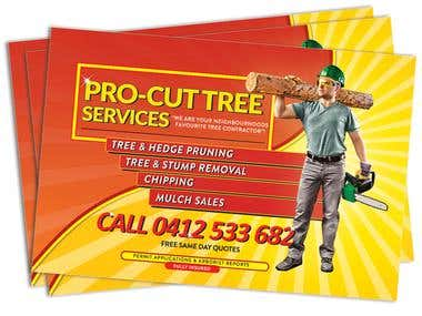Tree Pro Cut A5 Flyer