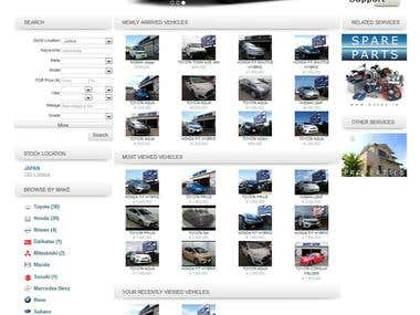 Orient Japan car showcase website and ERP solution