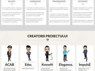 Unnic Romania - Web design