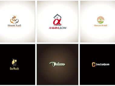 6 logos for various companies