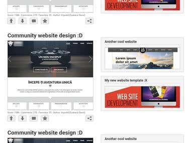 CreativeCocktail - Web design