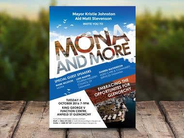 Mona and More Flyer Design