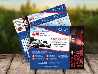 American Glass Distributors Flyer Design