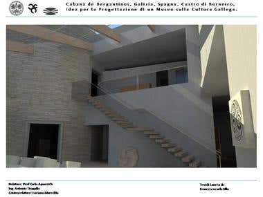 Galician Art and Culture Museum, Design and rendering