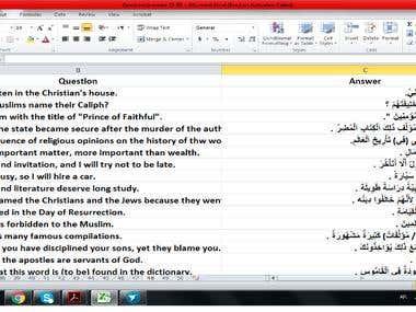 Data entry of Arabic in harakat markings (tashkil)