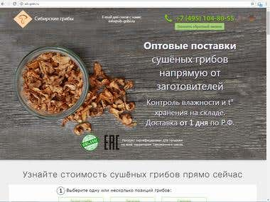 A dehydrated mushrooms online shop