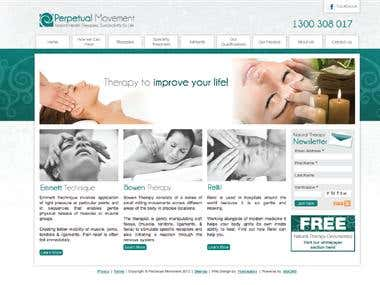 Perpetual Movement Website Design
