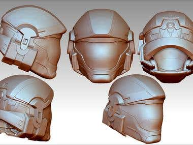 Helmet 3d print model