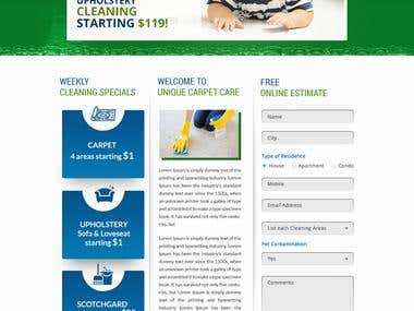 Capet cleaning website design and html