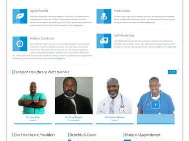 Wordpress CMS Development - www.nigeriamedicare.com