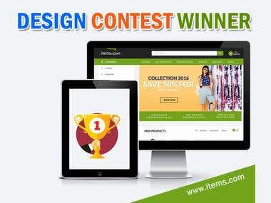 Design Website Mockup Winner