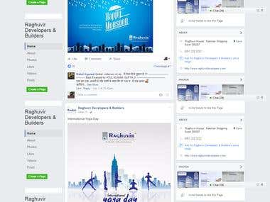 Facebook Marketing of the Raghuvir Builders and Groups