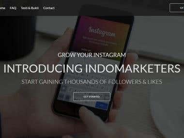 Build Full Website for www.indomarketers.com