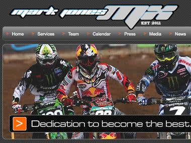 Mark Jones Moto Cross Form and Hosting Migration