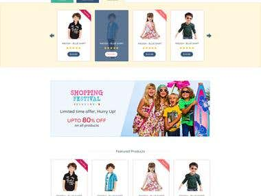 Online store for kids