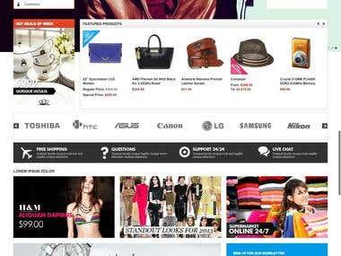 Multipurpose multivendor online shop