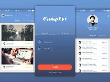 CampFyr App Concept Design