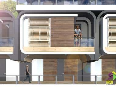 Conceptual Project, structure plastic house. Casa O