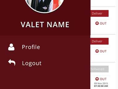 M Valet - Mobile Application