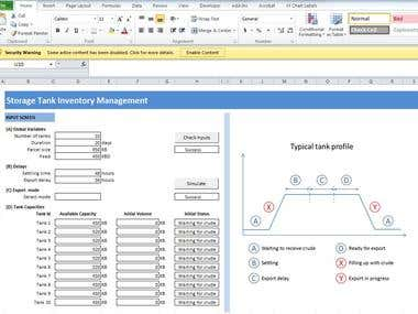 Multiple Storage Tanks - Inventory Management System