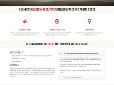 Ride Sharing Hub Website