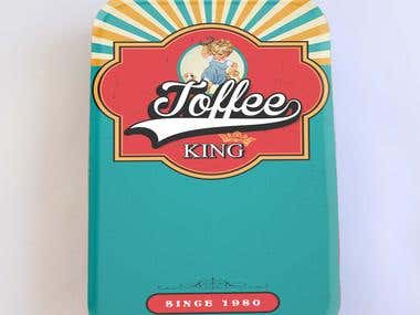 Toffee Tin Label